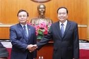 Việt Nam-Lào đẩy mạnh quan hệ hợp tác giữa hai tổ chức Mặt trận