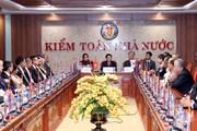 Hình ảnh các đại biểu dự ASOSAI 14 thăm Trụ sở Kiểm toán Nhà nước