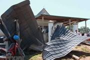 Lâm Đồng: Lốc xoáy bất thường ở Đam Rông, 16 ngôi nhà bị tốc mái