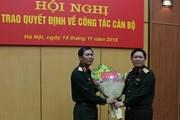 Trao quyết định bổ nhiệm ba cán bộ cấp cao trong Quân đội