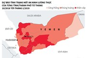[Infographics] Liên hợp quốc lo ngại chiến sự dẫn tới nạn đói ở Yemen