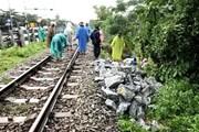 Đường sắt Bắc-Nam đoạn qua Đà Nẵng bị tê liệt do mưa lớn