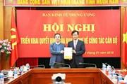 Ông Nguyễn Hữu Nghĩa được bổ nhiệm làm Phó trưởng Ban Kinh tế TW