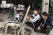 Học sinh Ninh Bình sáng chế giường hỗ trợ người mất khả năng vận động