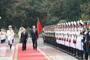 Lễ đón chính thức Tổng thống Cộng hòa Argentina và Phu nhân