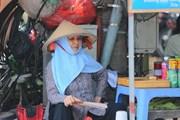 [Photo] Người lao động vất vả mưu sinh trong đợt nắng nóng cao điểm