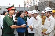 Chủ tịch Quốc hội Nguyễn Thị Kim Ngân thăm công trình Nhà Quốc hội Lào
