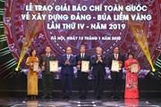 Lễ trao giải Búa liềm Vàng - giải báo chí toàn quốc về xây dựng Đảng