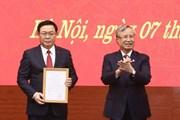 [Photo] Phân công ông Vương Đình Huệ giữ chức Bí thư Thành ủy Hà Nội
