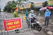 [Photo] Thôn Hạ Lôi tiếp tục phòng chống dịch COVID-19 theo Chỉ thị 16