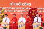 Thủ tướng dự lễ khởi công tuyến đường vào Khu bảo tồn cọc Cao Quỳ