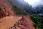 [Photo] Mưa lớn kéo dài ở Lai Châu, nhiều tuyến đường bị sạt lở