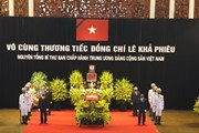 Những hình ảnh về lễ viếng nguyên Tổng Bí thư Lê Khả Phiêu