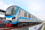 [Photo] Đón đoàn tàu đầu tiên tuyến metro số 1 ở Thành phố Hồ Chí Minh