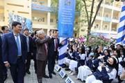 Tổng Bí thư dự kỷ niệm 70 năm thành lập Trường THPT Nguyễn Gia Thiều