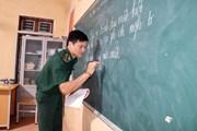 Lớp học đặc biệt ở biên cương của những thầy giáo quân hàm xanh
