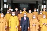 Hình ảnh Chủ tịch nước tiếp Đoàn đại biểu Giáo hội Phật giáo Việt Nam