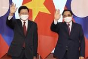 Thủ tướng Phạm Minh Chính hội kiến Tổng Bí thư, Chủ tịch nước Lào