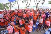 Hình ảnh lễ hội Trung thu sôi động của trẻ em Vĩnh Phúc