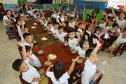 """Chiến dịch """"Nutrilite Power of 5'' năm 2018 đến với trẻ em Thanh Hóa"""