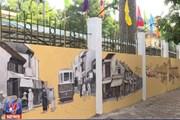 [Video] Tranh bích họa vẽ trên tường bao quanh THPT Phan Đình Phùng
