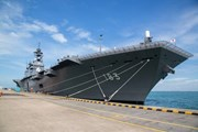 Hai tàu của lực lượng phòng vệ trên biển Nhật Bản đến Singapore