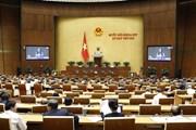 Bộ trường Bộ Công an trình bày báo cáo trước Quốc hội