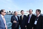 [Photo] Thủ tướng Nguyễn Xuân Phúc thăm cảng quốc tế Busan