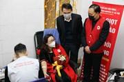 """[Photo] Hiến máu tình nguyện hưởng ứng """"Lễ hội Xuân hồng"""" 2020"""