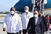 [Photo] Hình ảnh Chủ tịch nước Nguyễn Xuân Phúc đặt chân tới Cuba