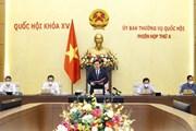 Quang cảnh khai mạc phiên họp thứ 4 của Ủy ban Thường vụ Quốc hội
