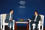 Thủ tướng tiếp các lãnh đạo WEF, AIIB và Tập đoàn Cisco