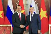 Việt Nam-Nga ra tuyên bố chung về chuyến thăm của Chủ tịch nước