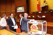 Quốc hội hoàn tất nội dung lấy phiếu tín nhiệm tại kỳ họp thứ 6