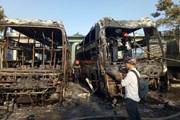 Cháy hai xe khách tại bến xe Trung tâm thành phố Đà Nẵng