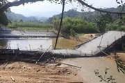 Yên Bái: Cầu bêtông bất ngờ bị đổ sập khi đang thi công