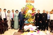 Ông Nguyễn Thiện Nhân chúc mừng Tòa Tổng giám mục Giáo phận TP.HCM