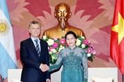 Chủ tịch Quốc hội Nguyễn Thị Kim Ngân hội kiến Tổng thống Argentina