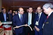 Hình ảnh Thủ tướng dự diễn đàn ngành công nghiệp gỗ, lâm sản