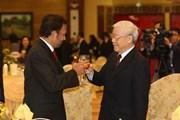 Hình ảnh Tổng Bí thư, Chủ tịch nước chiêu đãi Quốc vương Brunei
