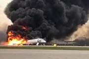[Video] Những giây phút kinh hoàng trong vụ cháy máy bay ở Nga