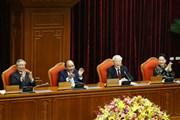 Hình ảnh Tổng Bí thư chủ trì bế mạc Hội nghị Trung ương 10 khóa XII