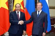 Hình ảnh Thủ tướng Nguyễn Xuân Phúc hội đàm với Thủ tướng LB Nga