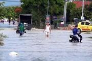 Hình ảnh thị xã Hoàng Mai của Nghệ An ngập trong biển nước sau mưa lớn