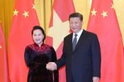 Hình ảnh Chủ tịch Quốc hội hội kiến với các nhà lãnh đạo Trung Quốc
