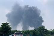Hình ảnh đám cháy dữ dội tại Khu công nghiệp Sài Đồng