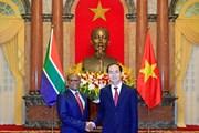 Chủ tịch nước tiếp các Đại sứ Nam Phi, Ai Cập trình Quốc thư