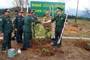 Trồng vườn cây hữu nghị tại ngã ba biên giới Việt-Lào-Campuchia