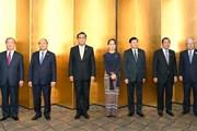 Thủ tướng và lãnh đạo các nước Mekong yết kiến Nhà vua Nhật Bản