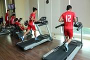 Các cầu thủ U19 Việt Nam tập nhẹ sau trận thua Jordan
